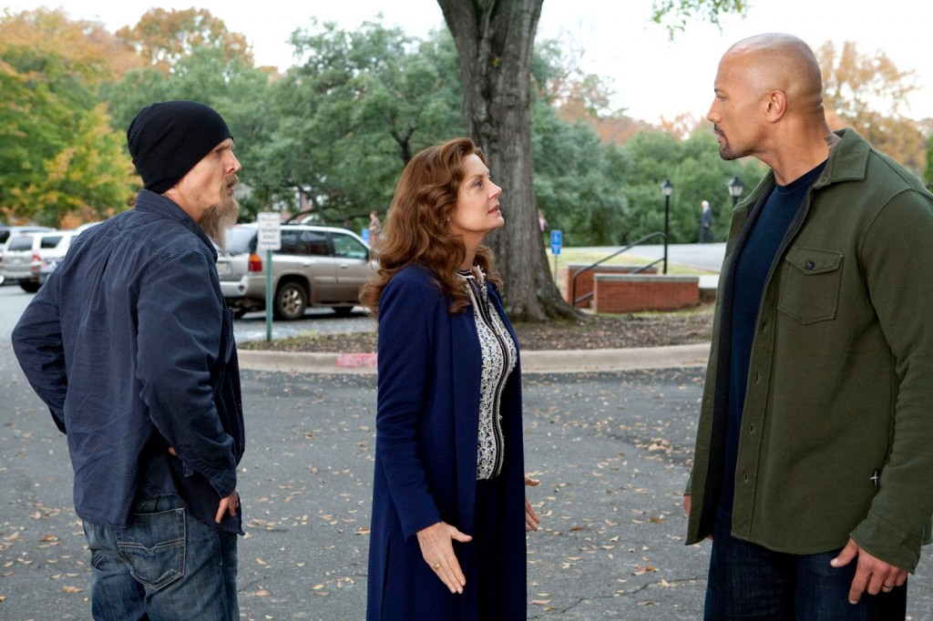 US District Attorney Keeghan (Susan Sarandon) explains why all narcotics officers wear beanies and long goatees.