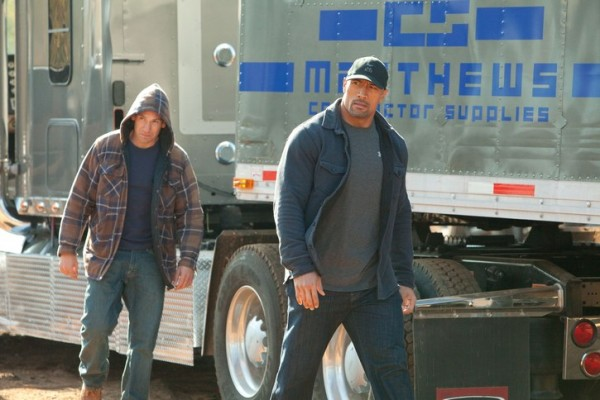 John (Dwayne Johnson) and Danny (Jon Bernthal) become drug runners with the best intentions.