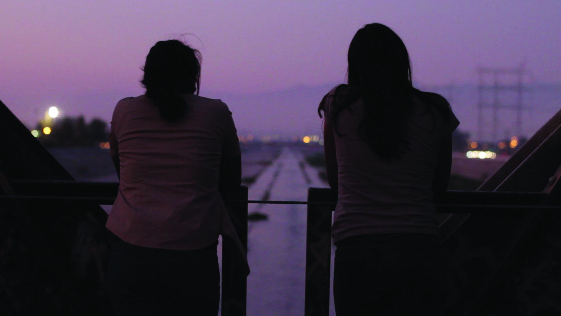 yolanda and mari on bridge