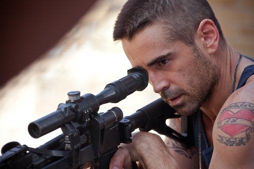 Victor aims a gun