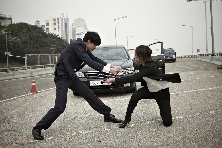 company man freeway fight
